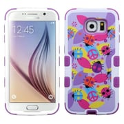 Insten Tuff Peace Ladybugs Hard Dual Layer Rubber Coated Silicone Cover Case for Samsung Galaxy S6, Purple/Pink