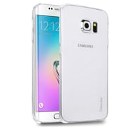 Insten Rear Hard Clip-on Crystal Cover Back Shell Case for Samsung Galaxy S6 Edge, Clear