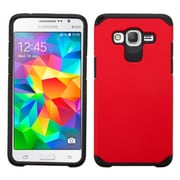 Insten Hard Dual Layer Silicone Cover Case for Samsung Galaxy Grand Prime, Red/Black