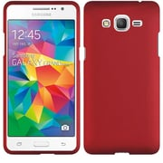 Insten Hard Rubber Coated Case for Samsung Galaxy Grand Prime, Red