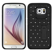 Insten Hard Hybrid Silicone Cover Case withstand/Diamond for Samsung Galaxy S6, Black