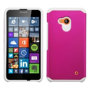 Insten Hard Hybrid Rugged Shockproof Silicone Case for Microsoft Lumia 640, Hot Pink/White