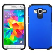 Insten Hard Dual Layer Rubber Coated Silicone Cover Case for Samsung Galaxy Grand Prime, Blue/Black