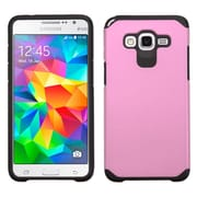 Insten Hard Hybrid Silicone Case for Samsung Galaxy Grand Prime, Pink/Black