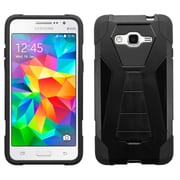 Insten Hard Hybrid Plastic Silicone Case withstand for Samsung Galaxy Grand Prime, Black