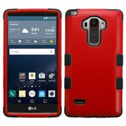 Insten Tuff Hard Dual Layer Rubber Coated Silicone Case for LG G Stylo, Red/Black
