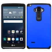 Insten Hard Hybrid Rugged Shockproof Rubber Coated Silicone Case for LG G Stylo, Blue/Black