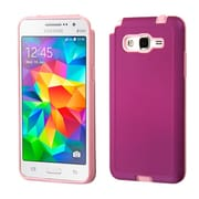 Insten Hard Dual Layer Rubber Silicone Cover Case for Samsung Galaxy Grand Prime, Purple/Pink