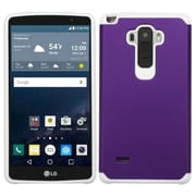 Insten Hard Dual Layer Rubber Coated Silicone Case for LG G Stylo, Purple/White