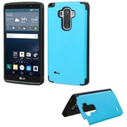 Insten Hard Rubberized Cover Case withcard holder for LG G Stylo, Blue