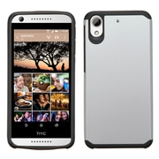 Insten Hard Dual Layer Rubber Coated Silicone Case for HTC Desire 626, Silver/Black