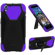 Insten Hard Hybrid Plastic Silicone Case withstand for HTC Desire 626, Black/Purple