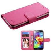 Insten Folio Leather Case for iPhone 5 6 HTC One M7/S/X/XL LG Leon Droid 3/4 Moto X(1st) Galaxy Avant/S2, Hot Pink
