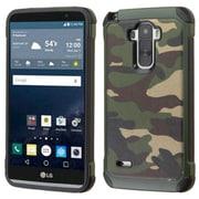 Insten Camouflage Hard Hybrid Silicone Case for LG G Stylo, Green/Black