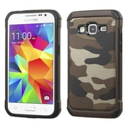 Insten Camouflage Hard Dual Layer Silicone Cover Case for Samsung Galaxy Core Prime, Gray/Black