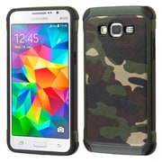 Insten Camouflage Hard Hybrid Silicone Cover Case for Samsung Galaxy Grand Prime, Green/Black