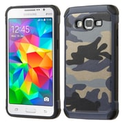 Insten Camouflage Hard Hybrid Rubber Coated Silicone Case for Samsung Galaxy Grand Prime, Blue/Black