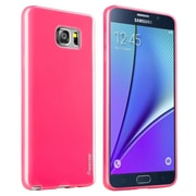 Insten TPU Slim Rubber Gel Jelly Case for Samsung Galaxy Note 5, Hot Pink