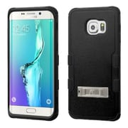 Insten Hard Dual Layer Rubber Silicone Case withstand for Samsung Galaxy S6 Edge Plus, Black