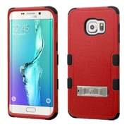 Insten Hard Dual Layer Silicone Cover Case withstand for Samsung Galaxy S6 Edge Plus, Red/Black
