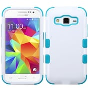 Insten Tuff Hard Dual Layer Rubber Coated Silicone Cover Case for Samsung Galaxy Core Prime, White/Blue