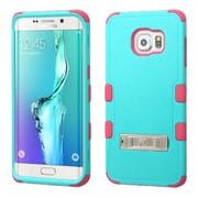 Insten Hard Dual Layer Rubber Silicone Cover Case withstand for Samsung Galaxy S6 Edge Plus, Blue/Hot Pink