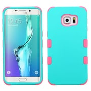 Insten Tuff Hard Dual Layer Rubber Silicone Cover Case for Samsung Galaxy S6 Edge Plus, Teal/Hot Pink