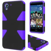 Insten Dynamic Hard Hybrid Rugged Shockproof Rubber Coated Silicone Case for HTC Desire 626/626s, Black/Purple