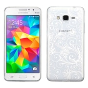 Insten Four-leaf Clover TPU Case for Samsung Galaxy Grand Prime, White