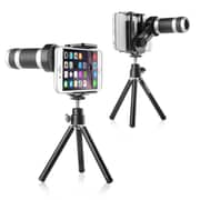Insten 8X Zoom Telescope Camera Lens with Tripod Stand for Smartphone