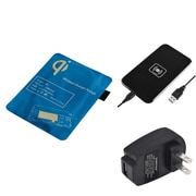 Insten Black Qi Wireless Charger Charging Pad + Receiver + AC Wall Charger for Samsung Galaxy S3 i9300