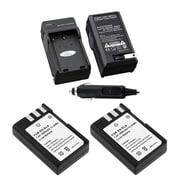 Insten 2-Pack Battery + Charger for Nikon EN-EL9 D40 D60 D5000 D3000