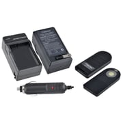 Insten IR Wireless Remote Control + EN-EL14 Battery Charger for Nikon ML-L3 D5100 Camera