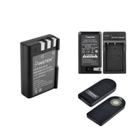 Insten AC Wall Charger + EN-EL9 Battery + ML-L3 Infrared Wireless Remote Control for Nikon D40x