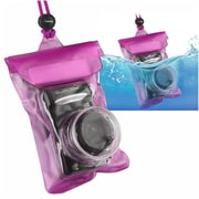 "Insten Digital Camera Underwater Waterproof Case Dry Hot Pink 4.5"" x 5.9"" Bag with Rope"