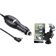 Insten Car Charger Power Adapter for Garmin Nuvi 1200 1450 1690 2250 2350 260 750 GPS (w/ Universal Car Phone Holder)