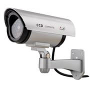 Insten Silver Flashing Light Dummy Fake Infrared LED Bullet Simulated Surveillance Security Camera