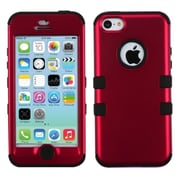 Insten Stylish Tuff Hybrid Phone Hard Case Cover for iPhone 5C, Red/Black
