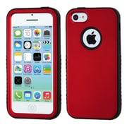 Insten VERGE Hybrid Hard Shockproof Protector Skin Case Cover for Apple iPhone 5C, Red/Black