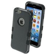Insten Tuff Hybrid Hard Phone Case Stylish Cover for iPhone 6S 6, Carbon Fiber/Black