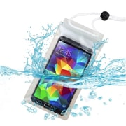 Insten Universal Waterproof Dry Bag Pouch Case with Lanyard for Mobile Phones, Clear