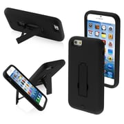 Insten Symbiosis Hybrid Hard Shockproof Stand Cover Protective Case Stand for iPhone 6 6S, Black