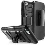 "Insten Hybrid Hard Rugged Dual Layer Holster Case with Stand for iPhone 6 Plus 6S Plus 5.5"", Black"