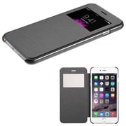 "Insten Silk Hard Case with Semi Transparent Frosted Open Window for iPhone 6 Plus 5.5"", Black"