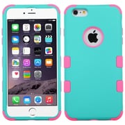 "Insten Tuff Hard Dual Layer Silicone Case for Apple iPhone 6 Plus 5.5"", Teal Green/Pink"