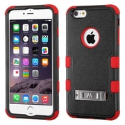 Insten Rugged Shockproof Hybrid Hard Stand Case for Apple iPhone 6 Plus, Red