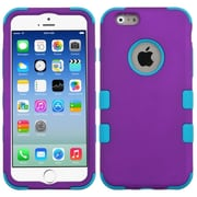 "Insten Hard Dual Layer Rubber Silicone Case for Apple iPhone 6S 6 4.7"", Purple/Blue"