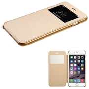 Insten Book-Style Leather Fabric Case for Apple iPhone 6 Plus, Gold