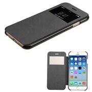 Insten Folio Leather Fabric Case for Apple iPhone 6, Black