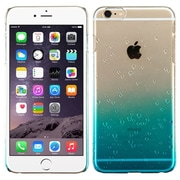 Insten Hard Rubberized Case for Apple iPhone 6 Plus, Clear/Blue